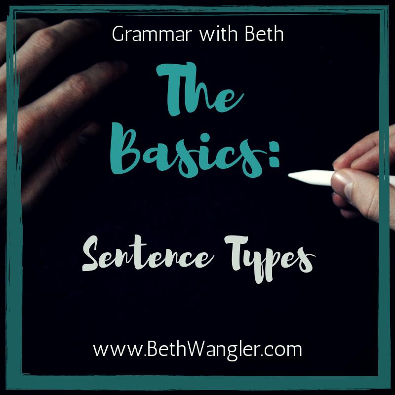 Grammar with Beth: Sentence Types – Beth Wangler